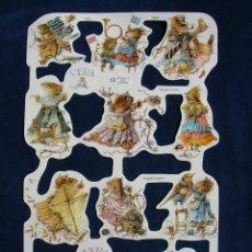 Coleccionismo Cromos troquelados antiguos: LAMINA CROMOS TROQUELADOS MLP- 1777. RATITAS . RELIEVE BRILLO. Lote 288105033