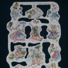 Coleccionismo Cromos troquelados antiguos: LAMINA CROMOS TROQUELADOS MLP- 1781. VERA. BRILLO.. Lote 288104978
