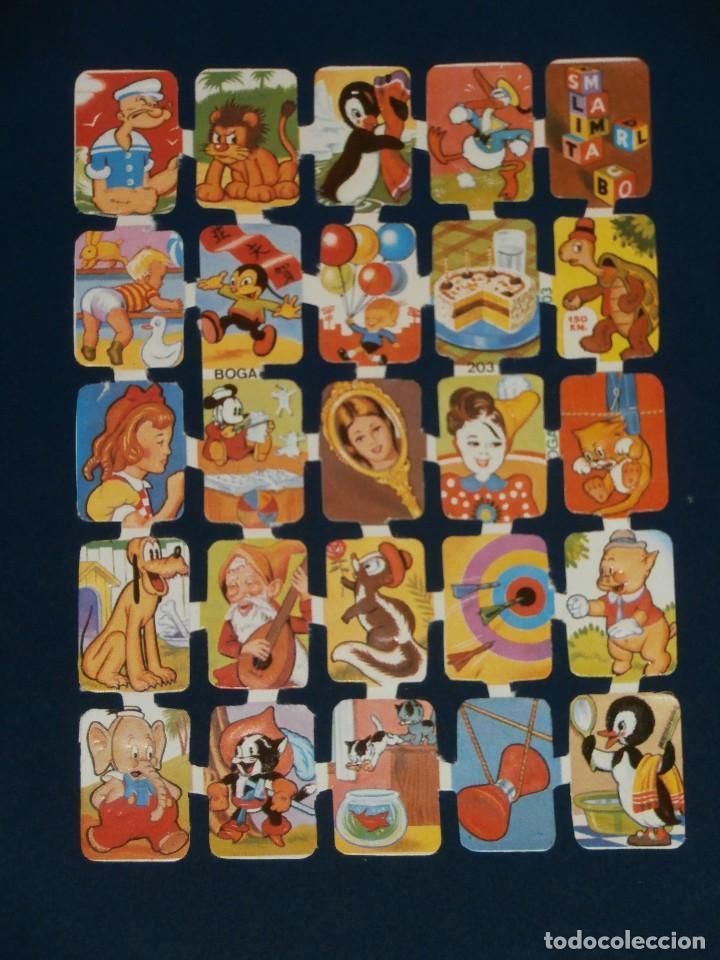 LAMINA CROMOS TROQUELADOS BOGA-203. IMAGENES DIVERSAS. RELIEVE BRILLO (Coleccionismo - Cromos y Álbumes - Cromos Troquelados)