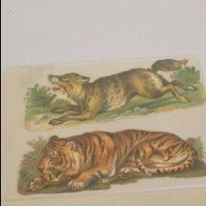 Coleccionismo Cromos troquelados antiguos: LOTE DE TRES CROMOS TROQUELADOS CHOCOLATES SERIE ANIMALES. Lote 72985923