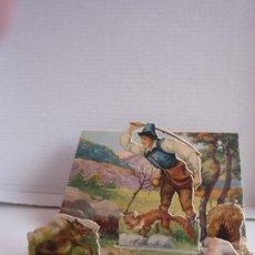 Coleccionismo Cromos troquelados antiguos: DIORAMA PLEGABLE 'LA ZORRA Y EL LOBO'. COLECCIÓN FABULAS DE ESOPO Nº 14, DE EDICIONES BARSAL. Lote 73713591