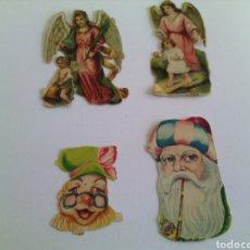 Coleccionismo Cromos troquelados antiguos: LOTE 4 CROMOS ANTIGUOS TROQUELADOS .PRINCIPIOS DEL XX.ORIGINALES.. Lote 74864690