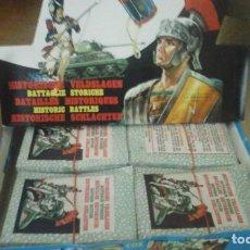 Coleccionismo Cromos troquelados antiguos: CAJA EXPOSITORA DE 200 SOBRES DE LA COLECCIÓN BATALLAS HISTORICAS EDITORIAL COX.. Lote 128707908