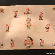 Coleccionismo Cromos troquelados antiguos: 155 CROMOS TROQUELADOS EN 12 PLANCHAS - WALT DISNEY. Lote 76677159