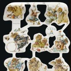 Coleccionismo Cromos troquelados antiguos: LAMINA CROMOS TROQUELADOS *RATITAS* VERA MLP-1764 - EN RELIEVE. Lote 77249837