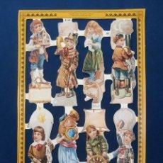 Coleccionismo Cromos troquelados antiguos: LAMINA CROMOS TROQUELADOS MLP- A140. NIÑOS VICTORIANOS. RELIEVE. ESCASA. Lote 77548469