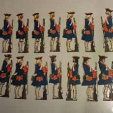 Coleccionismo Cromos troquelados antiguos: LOTE DE 21 CROMOS TROQUELADOS GRAN SERIE SCENION LA GUARDIA SEIX BARRAL OPISSO. Lote 78259891