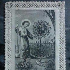Coleccionismo Cromos troquelados antiguos: ANTIGUO CROMO RELIGIOSO TROQUELADO CON PUNTILLA 11,5 X 7,5 CM. Lote 78610525