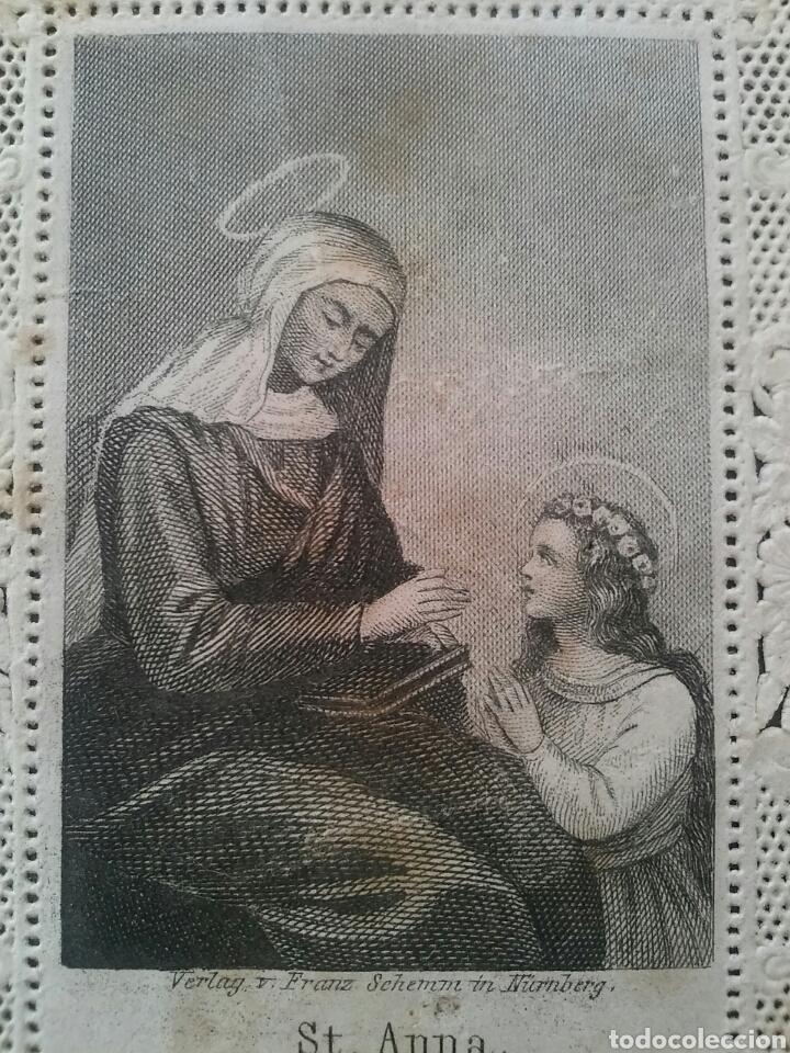 Coleccionismo Cromos troquelados antiguos: ANTIGUO CROMO RELIGIOSO TROQUELADO CON PUNTILLA 8,5 X 6 cm - Foto 2 - 78835949
