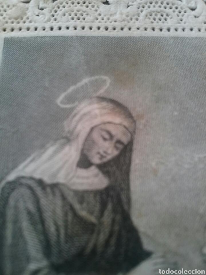 Coleccionismo Cromos troquelados antiguos: ANTIGUO CROMO RELIGIOSO TROQUELADO CON PUNTILLA 8,5 X 6 cm - Foto 3 - 78835949