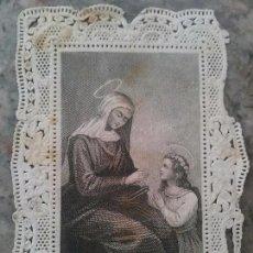 Coleccionismo Cromos troquelados antiguos: ANTIGUO CROMO RELIGIOSO TROQUELADO CON PUNTILLA 8,5 X 6 CM. Lote 78835949