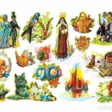 Coleccionismo Cromos troquelados antiguos: LAMINA DE CROMOS RECORTADOS TROQUELADOS CON RELIEVE EDITORIAL EVA Nº 138 ORIGINAL AÑOS 60 - 70. Lote 141734149