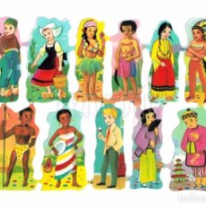 Coleccionismo Cromos troquelados antiguos: LAMINA DE CROMOS RECORTADOS TROQUELADOS CON RELIEVE EDITORIAL EVA Nº 146 ORIGINAL AÑOS 60 - 70. Lote 78926549