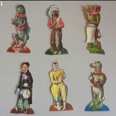 Coleccionismo Cromos troquelados antiguos: COLECCION COMPLETA NUMERADA DE 30 CROMOS TROQUELADOS CHOCOLATE JUNCOSA 10 FIGURAS DE 3 CROMOS C/U. Lote 80167337