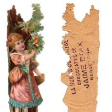Coleccionismo Cromos troquelados antiguos: CROMO TROQUELADO SIGLO XIX - CHOCOLATES DE JAIME BOIX, BARCELONA. Lote 80945216