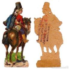 Coleccionismo Cromos troquelados antiguos: CROMO TROQUELADO SIGLO XIX - CHOCOLATES DE JAIME BOIX, BARCELONA. Lote 80945416