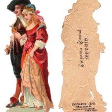 Coleccionismo Cromos troquelados antiguos: CROMO TROQUELADO SIGLO XIX - COMPAÑIA COLONIAL MADRID, CHOCOLATES Y CAFÉS, MADRID. Lote 80946112