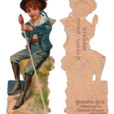 Coleccionismo Cromos troquelados antiguos: CROMO TROQUELADO SIGLO XIX - COMPAÑIA COLONIAL MADRID, CHOCOLATES Y CAFÉS, MADRID. Lote 80946732