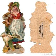 Coleccionismo Cromos troquelados antiguos: CROMO TROQUELADO SIGLO XIX - COMPAÑIA COLONIAL MADRID, CHOCOLATES Y CAFÉS, MADRID - 12 CM. Lote 80947484
