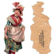 Coleccionismo Cromos troquelados antiguos: CROMO TROQUELADO SIGLO XIX - COMPAÑIA COLONIAL MADRID, CHOCOLATES Y CAFÉS, MADRID. Lote 80947688