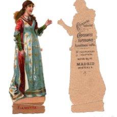 Coleccionismo Cromos troquelados antiguos: CROMO TROQUELADO SIGLO XIX - COMPAÑIA COLONIAL MADRID, CHOCOLATES SUPERIOR. Lote 80949916