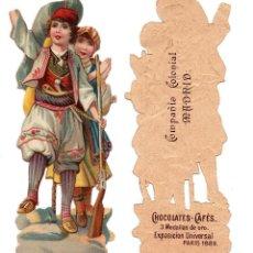 Coleccionismo Cromos troquelados antiguos: CROMO TROQUELADO SIGLO XIX - COMPAÑIA COLONIAL MADRID, CHOCOLATES Y CAFÉS, MADRID - 12 CM. Lote 81037976