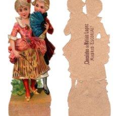 Coleccionismo Cromos troquelados antiguos: CROMO TROQUELADO SIGLO XIX - CHOCOLATE DE MATIAS LOPEZ MADRID EL ESCORIAL. Lote 81038152