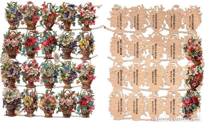 LOTE DE 23 DE CROMOS TROQUELADOS SIGLO XIX -CHOCOLATES AMATLLER, BARCELONA (Coleccionismo - Cromos y Álbumes - Cromos Troquelados)