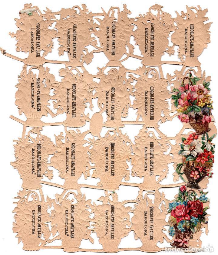 Coleccionismo Cromos troquelados antiguos: LOTE DE 23 DE CROMOS TROQUELADOS SIGLO XIX -CHOCOLATES AMATLLER, BARCELONA - Foto 3 - 81038756
