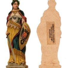 Coleccionismo Cromos troquelados antiguos: CROMO TROQUELADO SIGLO XIX - COMPAÑIA COLONIAL MADRID, CHOCOLATES Y CAFÉS, MADRID. Lote 81041576