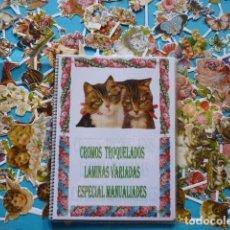 Coleccionismo Cromos troquelados antiguos: NOVEDAD CROMOS TROQUELADOS ALBUM CON LAMINAS VARIADAS ESPECIAL MANUALIDADES,. Lote 83318460