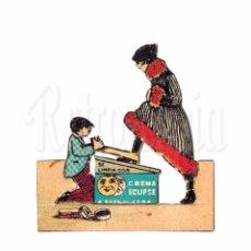 Coleccionismo Cromos troquelados antiguos: CROMO RECORTABLE PUBLICIDAD DE BETUN CREMA PARA EL CALZADO ECLIPSE AÑOS 40. Lote 86288412