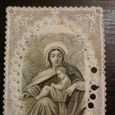 Coleccionismo Cromos troquelados antiguos: ESTAMPA RELIGIOSA - CROMO, CALADO - PUNTILLA, VILLEMUR PARÍS. Lote 204064466