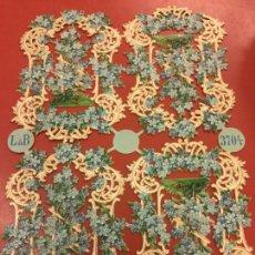 Coleccionismo Cromos troquelados antiguos: ANTIGUOS CROMOS TROQUELADOS, PPIOS. 1900 - 4 CROMOS - FLORES ESPECTACULAR - MIDE APROX 21X15CMS. Lote 150121833