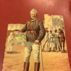 Coleccionismo Cromos troquelados antiguos: ANTIGUO CROMO TROQUELADO, PPIOS. 1900 - 1 CROMO - GENERAL GORDON - MIDE APROX 15X11CMS. Lote 106624284