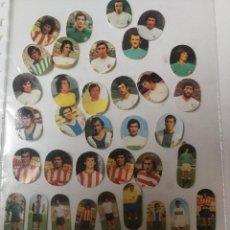 Coleccionismo Cromos troquelados antiguos: 44 CROMOS TROQUELADOS ALBUM FUTBOL DE MAGA 1975. Lote 87519880
