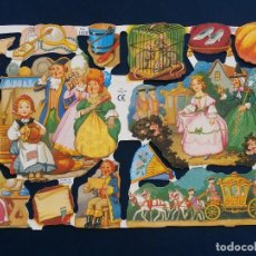 Coleccionismo Cromos troquelados antiguos: LAMINA CROMOS TROQUELADOS MLP- 1430 CUENTO CENICIENTA. RELIEVE BRILLO. Lote 98404731