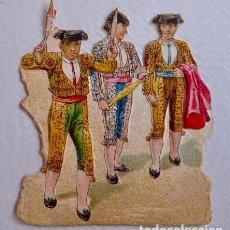 Coleccionismo Cromos troquelados antiguos: TOROS/TAUROMAQUIA. CROMO ANTIGUO DE CHOCOLATE AMERICANO TROQUELADO/DE PICAR. CON RELIEVE. Lote 90371728