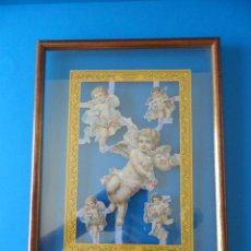 Coleccionismo Cromos troquelados antiguos: LÁMINA ENMARCADA DE CROMOS TROQUELADOS INGLESES - MAMELOK PRESS LTD - VINTAGE. Lote 91826695