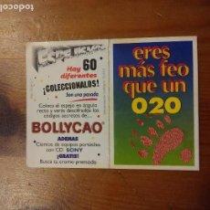 Coleccionismo Cromos troquelados antiguos: PANRICO BOLLYCAO ESPEJISMOS ESPEJISMO ERES MÁS FEO QUE UN 020 CROMO ESPECIAL ESPEJO 1995. Lote 92274685