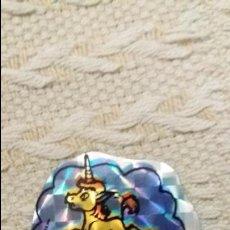 Coleccionismo Cromos troquelados antiguos: MATUTANO CROMO HOLOGRÁFICO DRAGONES Y MAZMORRAS NUNCA PEGADO MUY NUEVO UNI EL UNICORNIO. LEER . Lote 92528360
