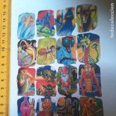Coleccionismo Cromos troquelados antiguos: LIQUIDACION LAMINAS DE CROMOS . LAMINA DE CROMOS TROQUELADOS DE PICAR , JUEGO JUGUETES -. Lote 92940150