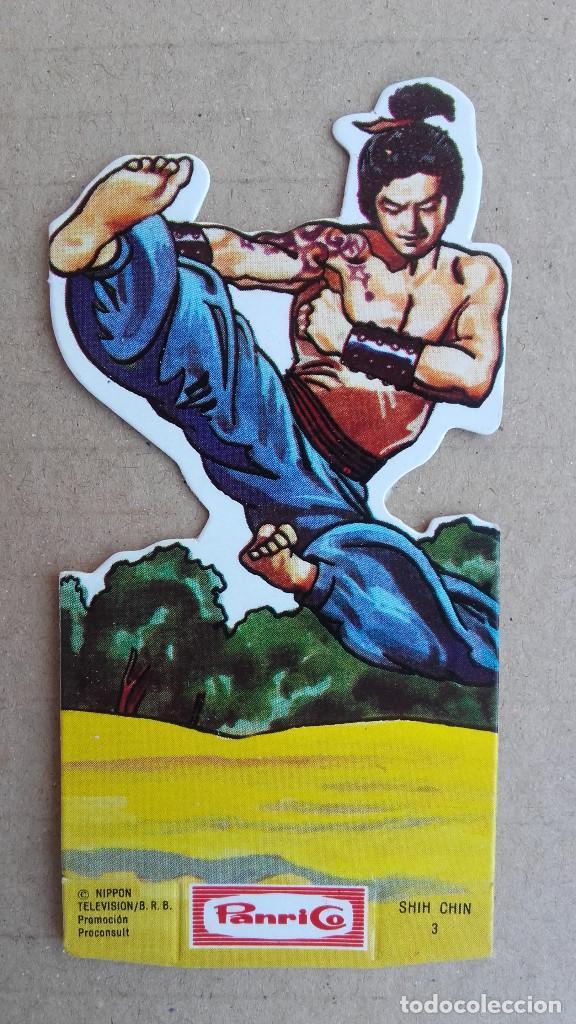 CROMO PANRICO TROQUELADO - LA FRONTERA AZUL - Nº 3 SHIN CHIN - BUEN ESTADO DE CONSERVACIÓN (Coleccionismo - Cromos y Álbumes - Cromos Troquelados)