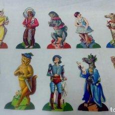 Coleccionismo Cromos troquelados antiguos: COLECCION COMPLETA 10 FIGURAS TROQUELADAS EN 30 CROMOS. CHOCOLATES EVARISTO JUNCOSA.. Lote 95190107
