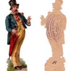 Coleccionismo Cromos troquelados antiguos: CROMO TROQUELADO SIGLO XIX - PROPAGANDA CHOCOLATES LA CRIOLLA BADAJOZ. Lote 96485283