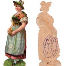Coleccionismo Cromos troquelados antiguos: CROMO TROQUELADO SIGLO XIX - PROPAGANDA CHOCOLATES LA CRIOLLA BADAJOZ. Lote 96485875