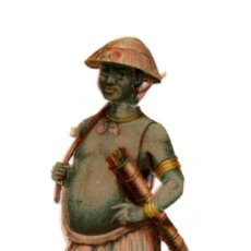Coleccionismo Cromos troquelados antiguos: CROMO TROQUELADO SIGLO XIX - USMBOA ÁFRICA. Lote 96495263