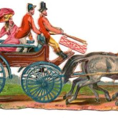 Coleccionismo Cromos troquelados antiguos: CROMO TROQUELADO SIGLO XIX - CARROZA. Lote 96495479