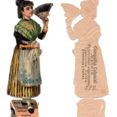 Coleccionismo Cromos troquelados antiguos: CROMO TROQUELADO SIGLO XIX - COMPAÑIA COLONIAL MADRID, CHOCOLATES SUPERIOR . Lote 96496699