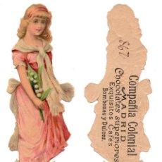 Coleccionismo Cromos troquelados antiguos: CROMO TROQUELADO SIGLO XIX - COMPAÑIA COLONIAL MADRID, CHOCOLATES SUPERIOR. Lote 96498903